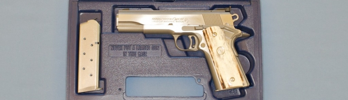 Colt  45 Gold Cup National Match Stag Grips Pistol For Sale